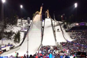 Kompleks skoczni 'Salpausselkä' podczas Mistrzostw Świata w Lahti (fot. Julia Piątkowska)