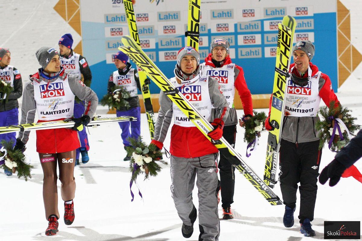 Maciej Kot, Kamil Stoch, Dawid Kubacki i Piotr Żyła (fot. Julia Piątkowska)