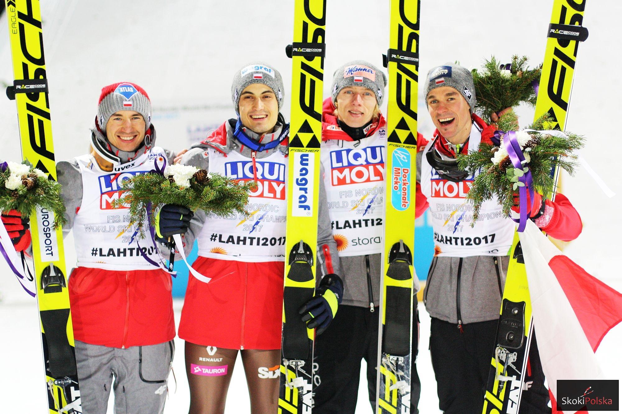 MŚ Lahti: Polscy skoczkowie mistrzami świata w drużynie!