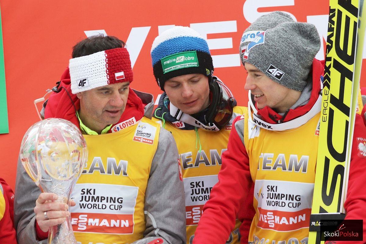 Stefan Horngacher, Jan Ziobro i Kamil Stoch (fot. Julia Piątkowska)