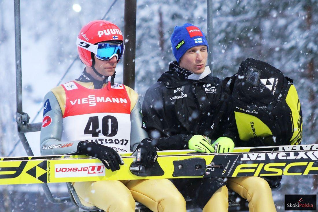 Janne Ahonen i Ville Larinto - jaka sportowa przyszłość czeka fińskich liderów? (fot. Julia Piątkowska)