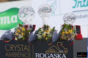 Kryształowe trofea wręczane w Planicy (fot. Julia Piątkowska)
