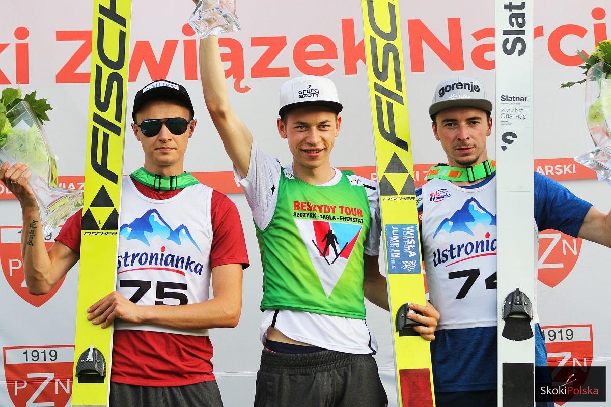 Podium konkursu (od lewej: Klemens Murańka, Aleksander Zniszczoł, Miran Zupancic), fot. Julia Piątkowska