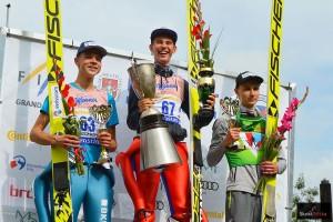 Podium konkursu we Frenstacie (od lewej: A.Schuler, M.Steiner, K.Murańka), fot. Bartosz Leja