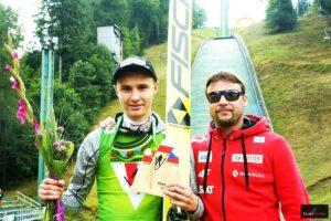 Klemens Murańka i trener Radek Zidek (fot. Julia Piątkowska)