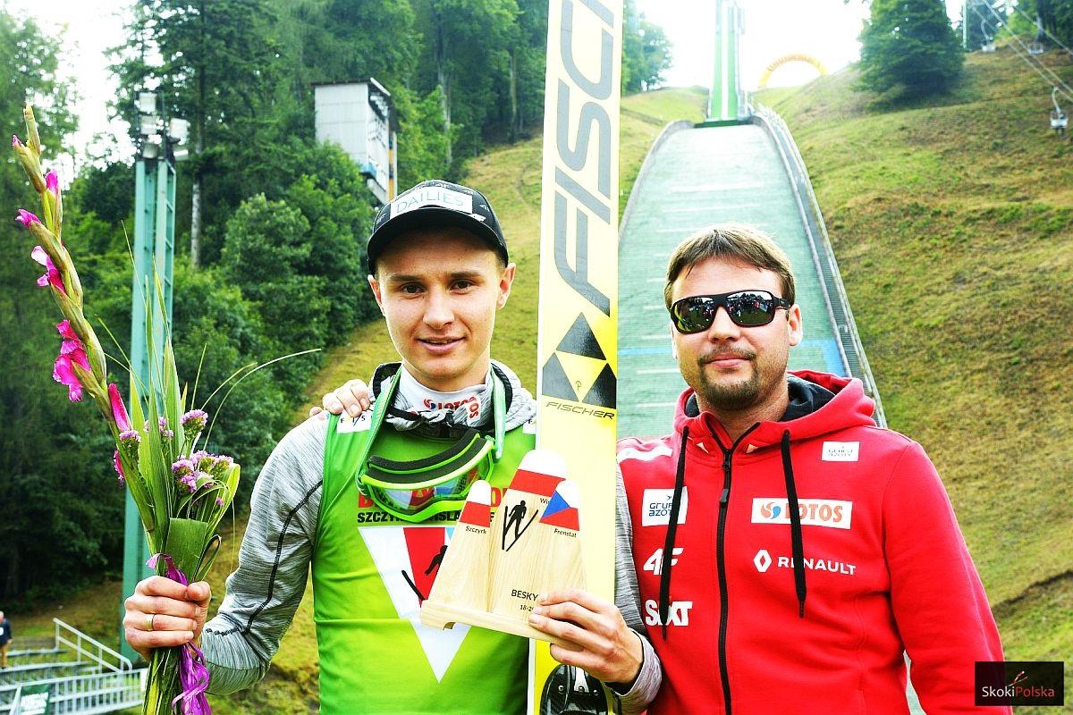 Klemens Murańka z trenerem Radkiem Zidkiem (fot. Julia Piątkowska)