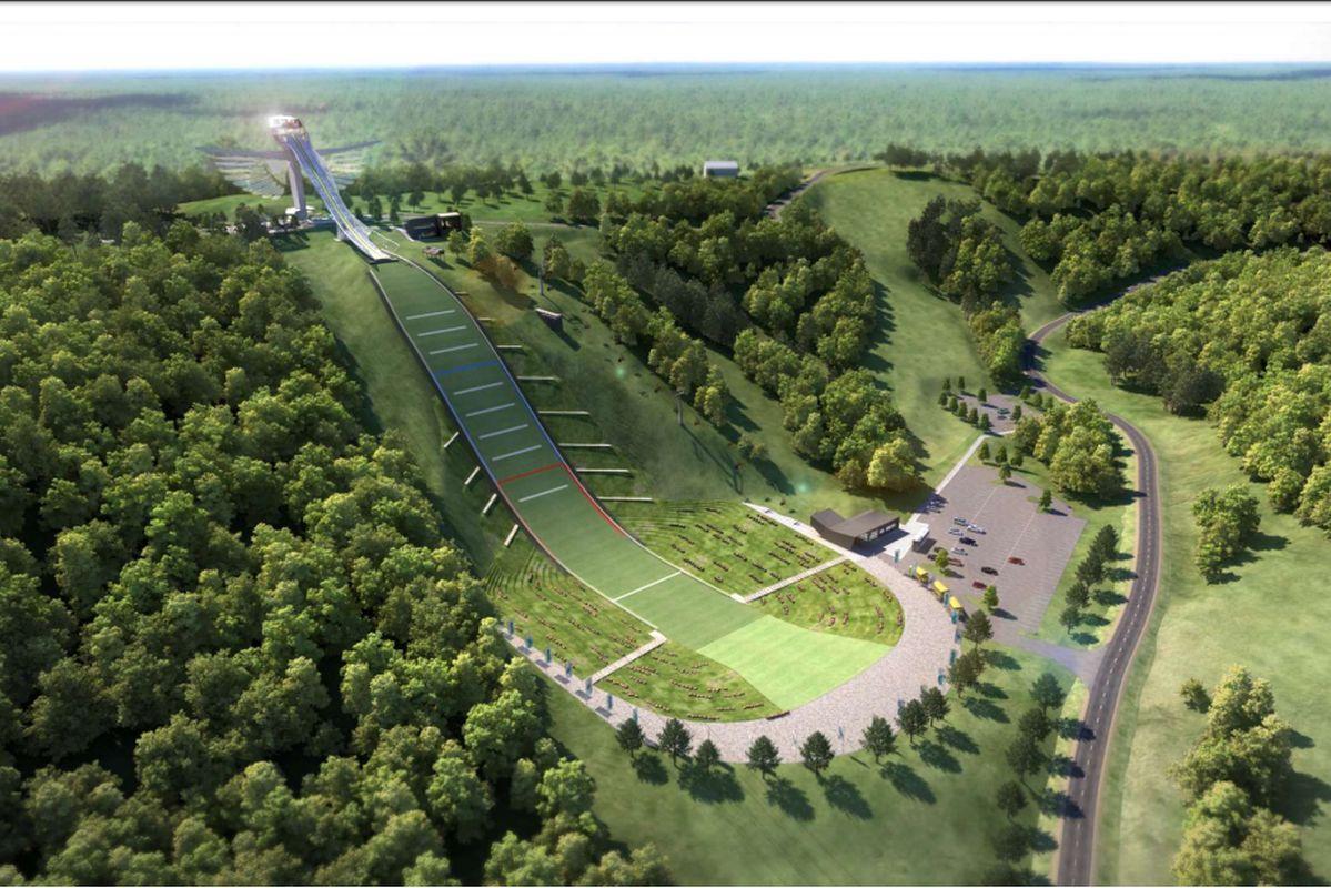 Wizualizacja projektu dużej skoczni narciarskiej w Red Wing (fot. baldy125.com)