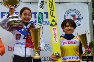 Sara Takanashi i Yuki Ito (fot. Bartosz Leja)