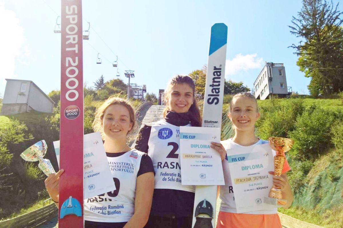 Podium konkursu (od lewej: Kamila Karpiel, Daniela Haralambie, Stepanka Ptackova), fot. Renata Nadarkiewicz