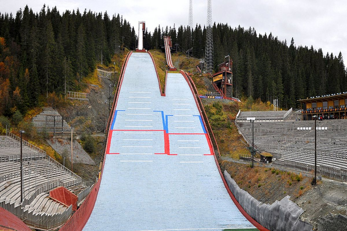Kompleks skoczni 'Granåsen' w Trondheim (fot. skisprungschanzen.com)