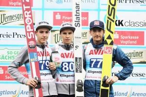 Podium konkursu (od lewej: T.Zajc, T.Bartol, J.Hauer), fot. Konstanze Schneider