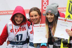 K.Rajda, K.Karpiel i M.Pałasz na podium Letnich Mistrzostw Polski w Szczyrku (fot. Julia Piątkowska)