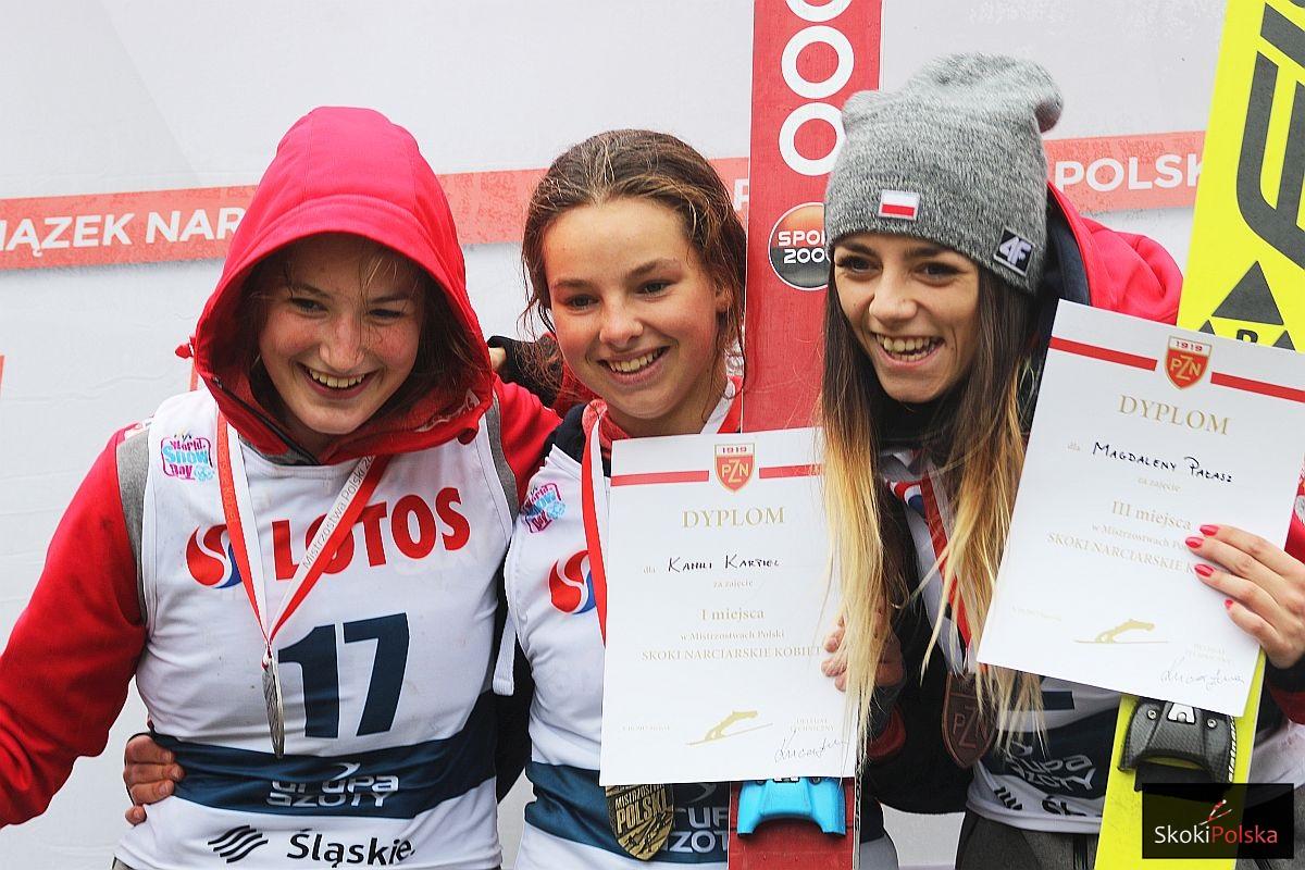 Podium MP kobiet (od lewej: Kinga Rajda, Kamila Karpiel, Magdalena Pałasz), fot. Julia Piątkowska