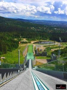 Widok ze skoczni 'Midtstubakken' w Oslo (fot. Aleksandra Kowalik)