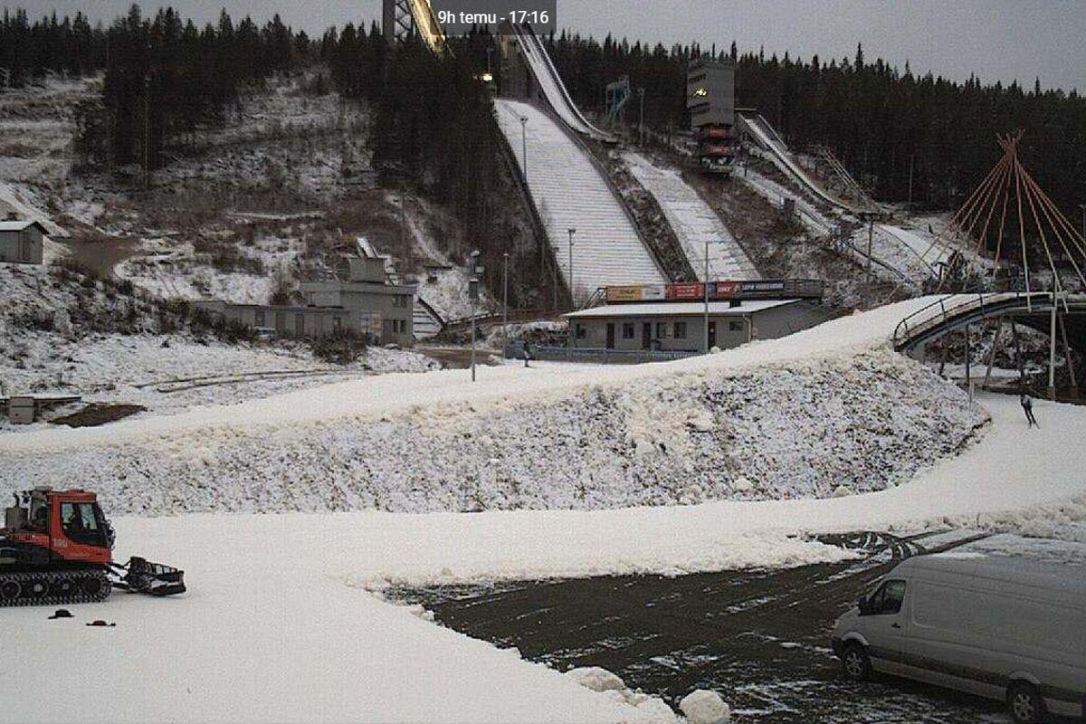 Rovaniemi Ounasvaara zima.2017.24.pazdziernik fot.rovaniemi.fi  - Pierwszy konkurs zimy wkrótce w Rovaniemi! Zawody FIS? Brak warunków...