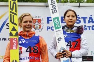 Maren Lundby i Sara Takanashi (fot. Bartosz Leja)