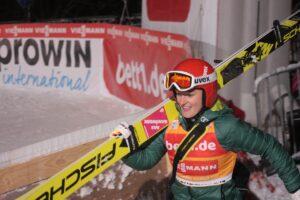 PŚ Pań Oberstdorf: Katharina Althaus liderką po I serii! Lundby tuż za Niemką