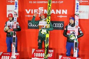 Zeszłoroczne podium (od lewej: D.A.Tande, R.Freitag, J.A.Forfang), fot. Andrey Kascha / World Cup Nizhny Tagil