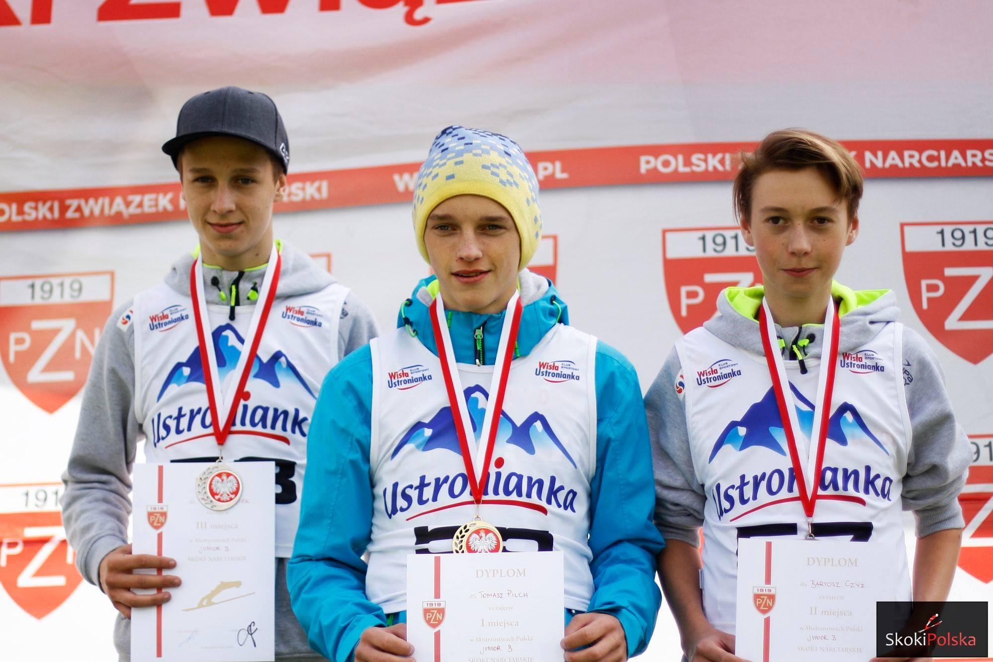 Najlepsi polscy juniorzy poskaczą w Ruce (od lewej: P.Wąsek, T.Pilch, B.Czyż), fot. Julia Piątkowska