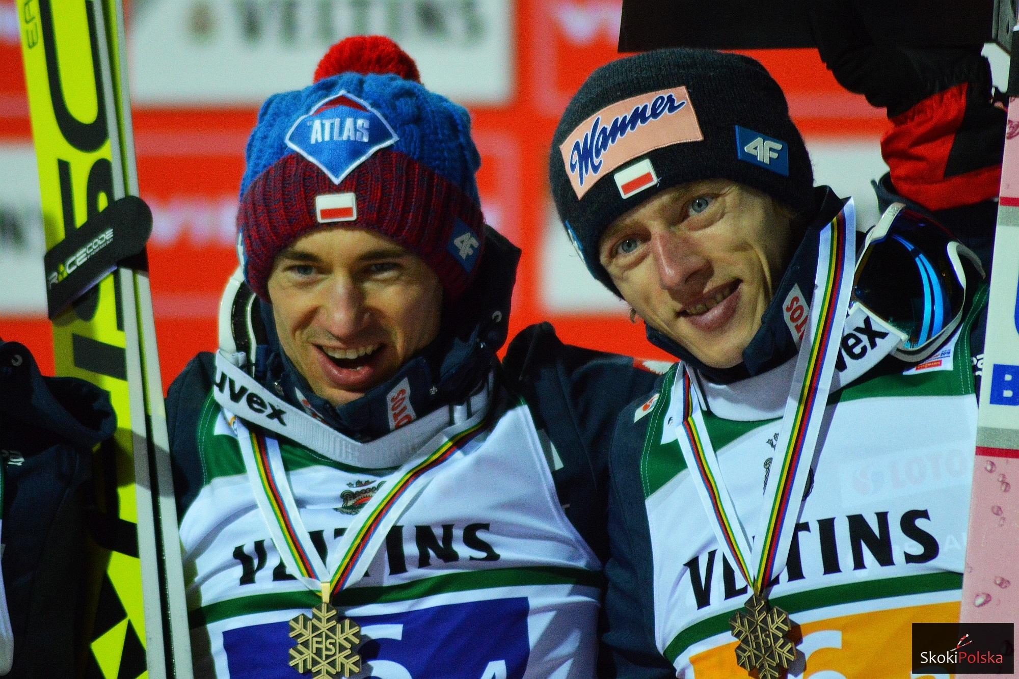 Kamil Stoch i Dawid Kubacki (fot. Bartosz Leja)