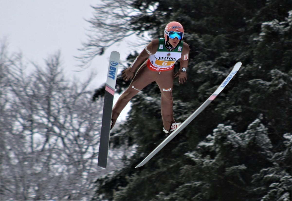 Dawid Kubacki lot Oberstdorf loty 2018 fot. Julia Piątkowska e1516545711885 - MŚwL Oberstdorf: Norwegowie najlepsi w serii próbnej, Kubacki 3.