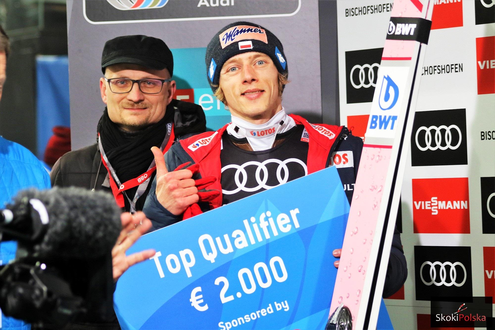 Dawid Kubacki - zwycięzca kwalifikacji w Bischofshofen (fot. Julia Piątkowska)