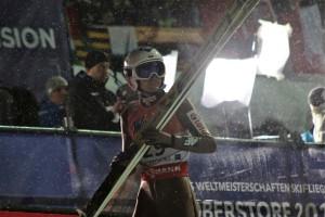 Kamil Stoch po skoku w Oberstdorfie, fot. Julia Piątkowska