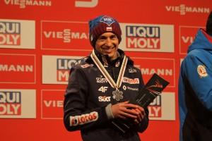 Kamil Stoch z medalem MŚ w lotach 2018, fot. Julia Piątkowska