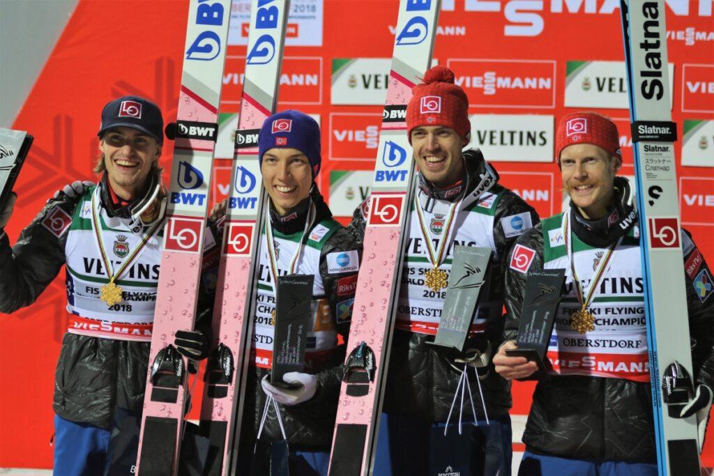 Read more about the article MŚwL Oberstdorf: Norwegowie mistrzami świata, Polacy z brązowym medalem!