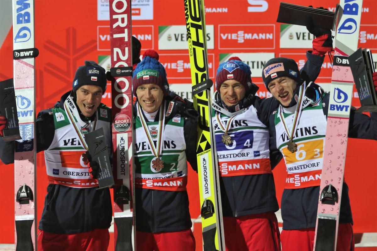 Piotr Żyła, Stefan Hula, Kamil Stoch, Dawid Kubacki (fot. Julia Piątkowska)