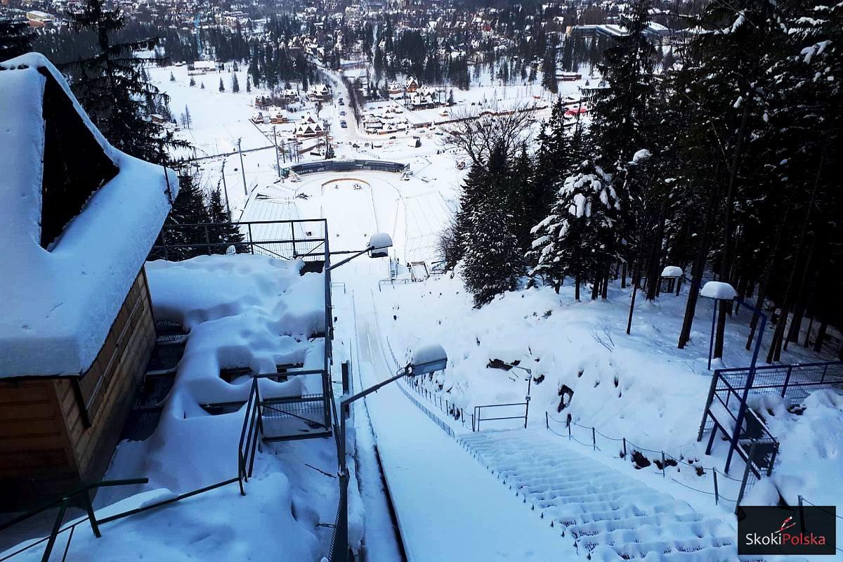 Widok ze szczytu zakopiańskiej Wielkiej Krokwi (fot. Bartosz Leja)