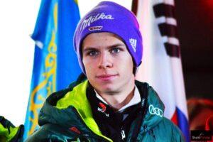 Andreas Wellinger - zwycięzca kontrowersyjnego konkursu olimpijskiego, fot. Bartosz Leja