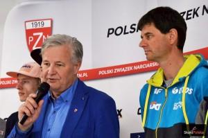 Prezes PZN Apoloniusz Tajner i trener Stefan Horngacher (fot. Bartosz Leja)