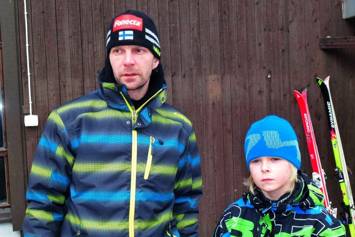 JanneAhonen MicoAhonen fot.TuijaHankkila - Ahonen chce wystartować w kolejnych igrzyskach razem z synem!