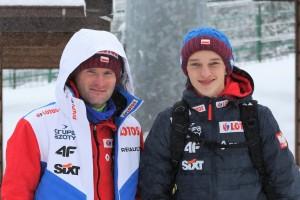 Trener Maciej Maciusiak i Tomasz Pilch (fot. PZN)