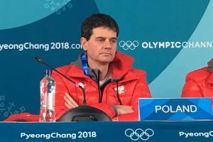 Trener Stefan Horngacher w PyeongChang