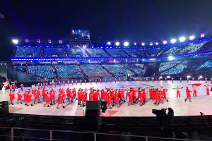 Reprezentacja Polski podczas ceremonii otwarcia igrzysk