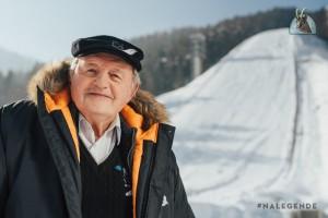 Janez Gorišek na skoczni w Planicy (fot. Słoweński Związek Narciarski / sloski.si)