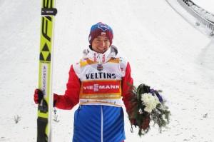 Kamil Stoch po ostatnim zwycięstwie w Lahti, fot. Tuija Hankkila