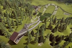 Wstępna wizualizacja odnowionych skoczni w Zakopanem (fot. COS Zakopane)