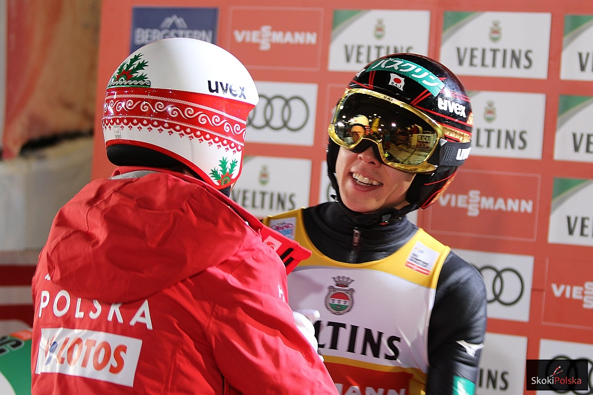 Kamil Stoch i Ryoyu Kobayashi (fot. Julia Piątkowska)