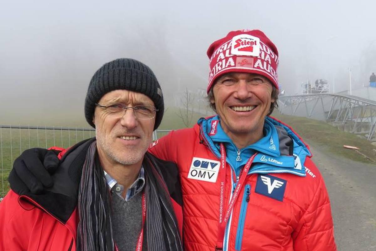Andreas Felder (po prawej) i legenda austriackich skoków Toni Innauer (fot. Hans Aumayr)