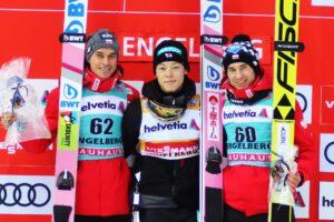 PŚ Engelberg: Kapitalni Polacy, Żyła i Stoch na podium, Kobayashi wygrywa!