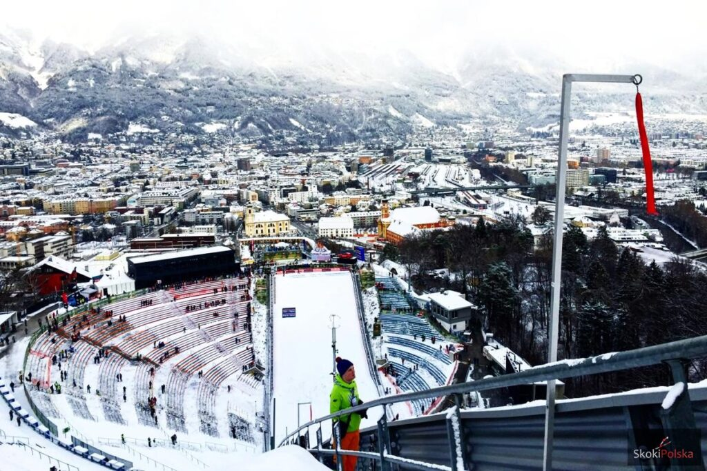 Widok ze skoczni Bergisel w Innsbrucku (fot. Julia Piątkowska)