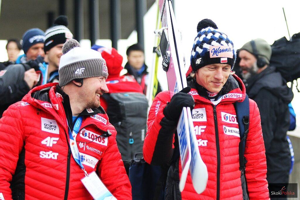 Adam Małysz i Dawid Kubacki (fot. Julia Piątkowska)