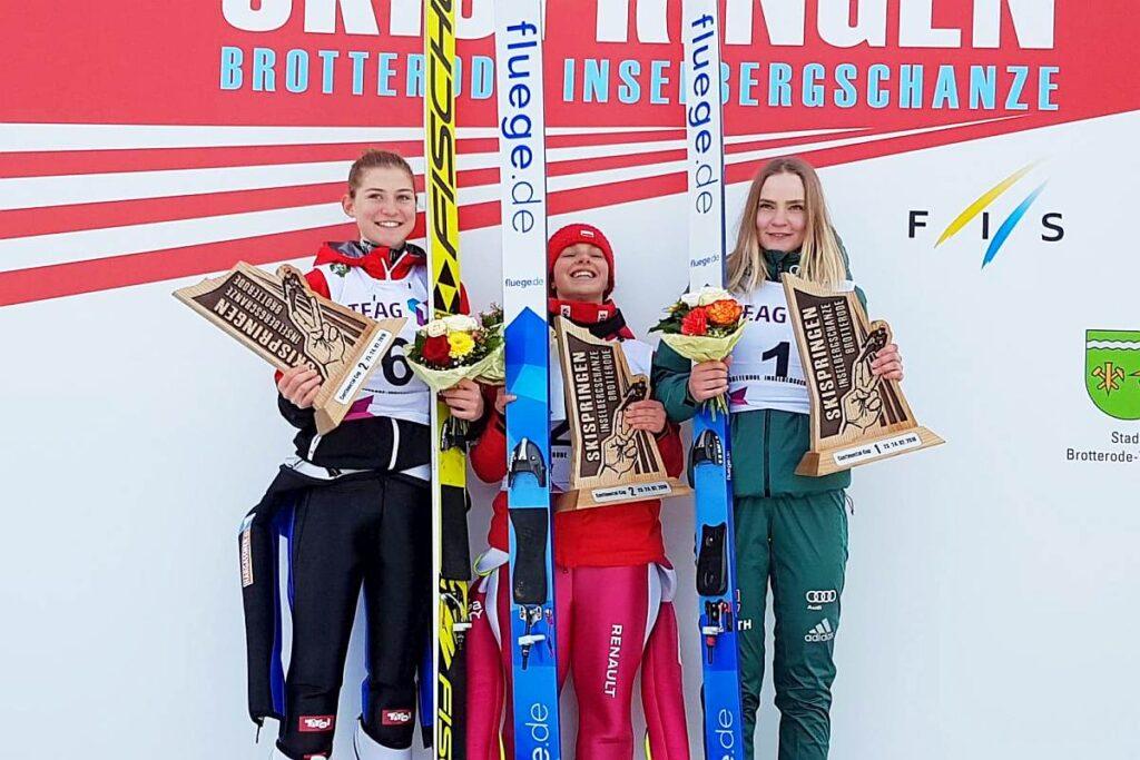 Podium konkursu (od lewej: M.Kramer, K.Karpiel, P.Hessler), fot. Łukasz Szymura