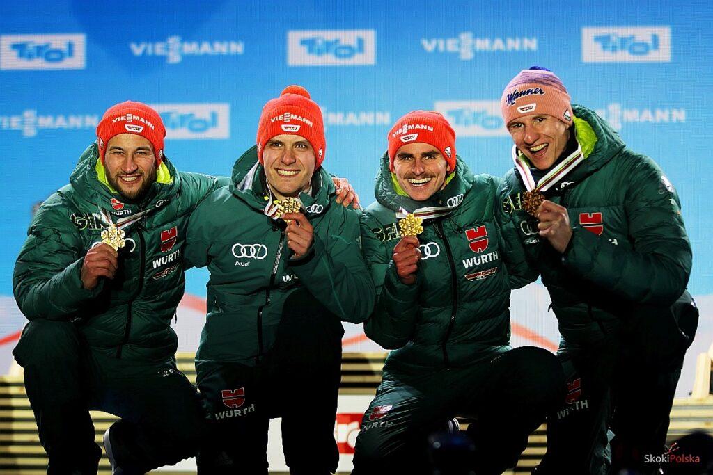Niemieccy skoczkowie (od lewej: Eisenbichler, Leyhe, Freitag, Geiger), fot. Julia Piątkowska