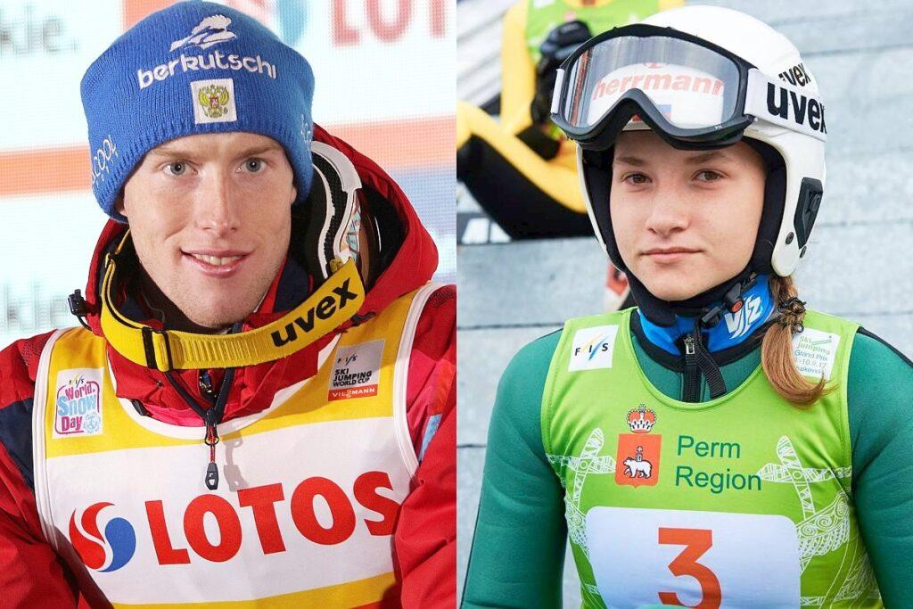 Evgeniy Klimov i Anna Shpyneva (fot. Julia Piątkowska / FIS Ski Jumping Chaikovsky)