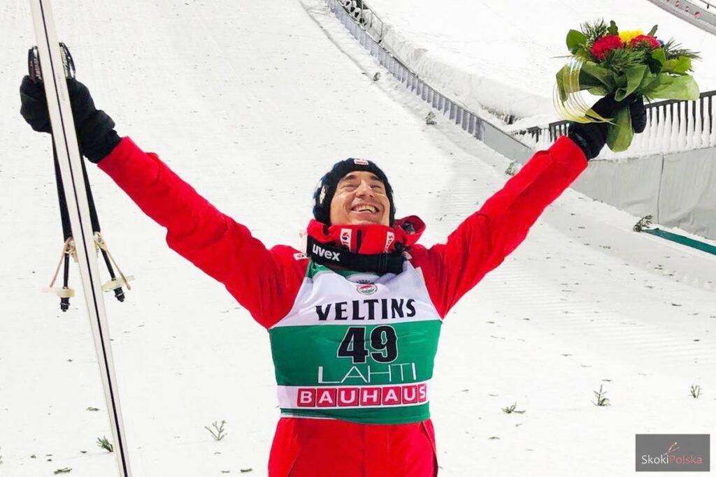 Kamil Stoch zwycięski w Lahti (fot. Anna Trybuś)