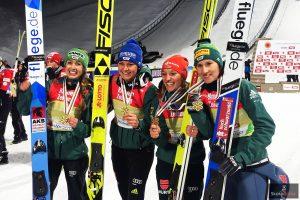 Złote medalistki - Niemki (od lewej: Seyfarth, Vogt, Althaus, Straub), fot. Julia Piątkowska